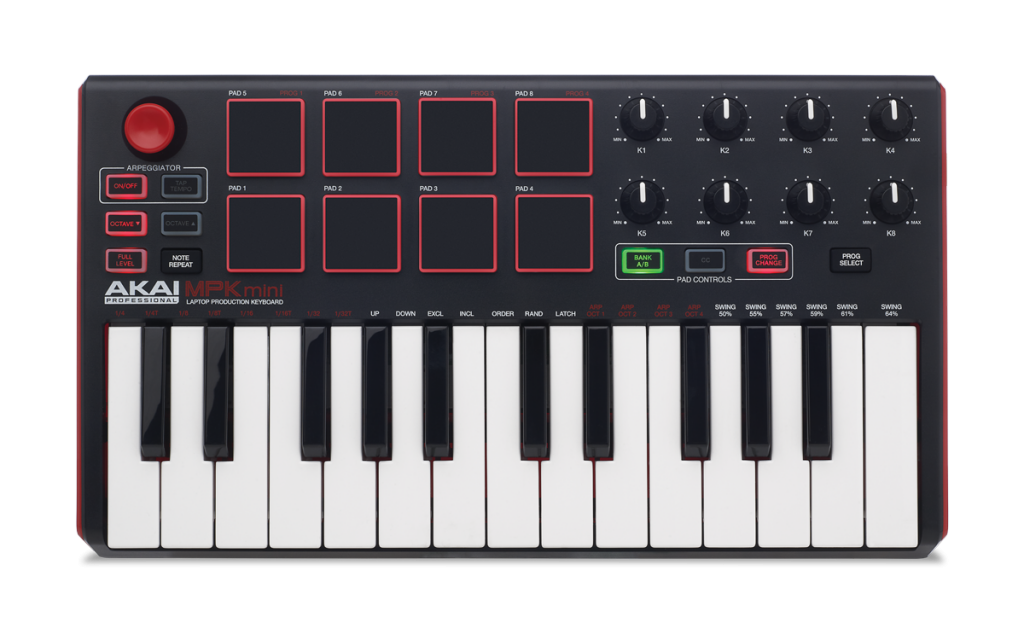 Akai MPK Mini MK2 - one of the best MIDI keyboards in the budget category