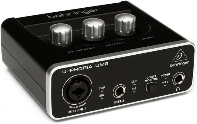 Behringer UM2 is the best USB audio interface if you want performance in a tiny package