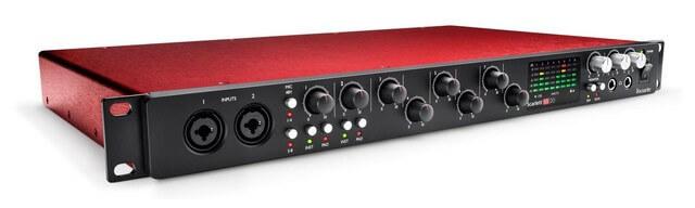 Focusrite Scarlett 18i20 is the best rackmounted USB interface for home studios