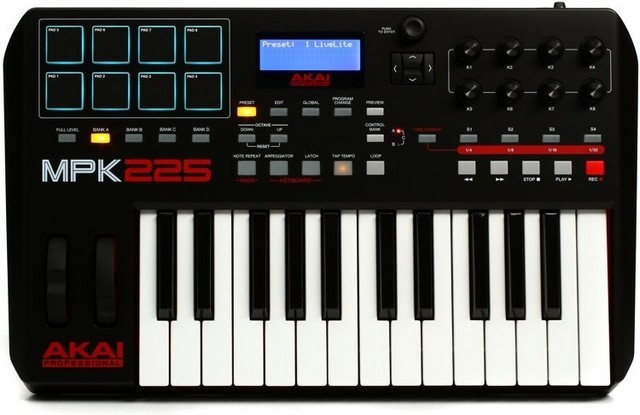 Akai MPK225 is the best mini MIDI keyboard for performance oriented users