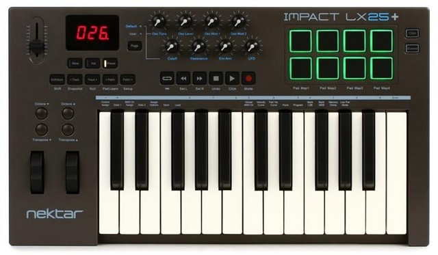 Nektar Impact LX25+ is one of the best 25 key MIDI controllers you can buy right now
