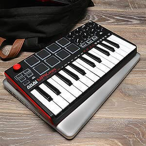 Akai MPK Mini MK2 is roughly the size of a Macbook