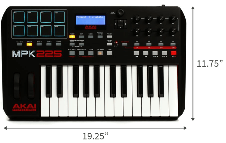 Akai Pro MPK225 is the best portable MIDI keyboard for performance-focused buyers
