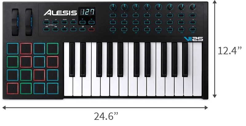 Alesis VI25 is the best portable MIDI keyboard for mid-range buyers