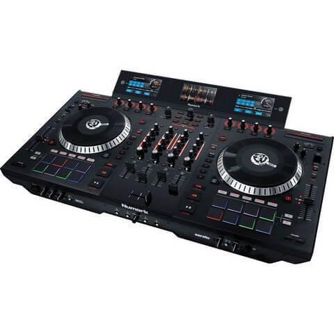 An example of a 4 deck DJ mixer