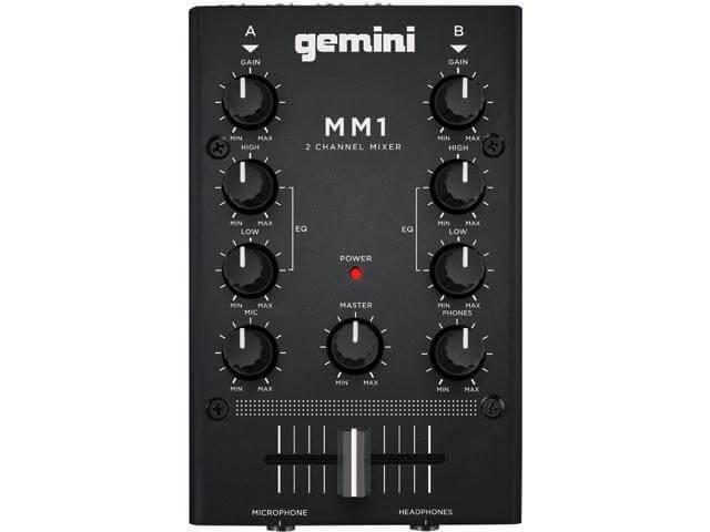 Gemini MM1 is the best DJ mixer for beginners