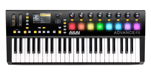 Akai Pro Advance 49 is the best MIDI keyboard for Pro Tools thanks to its robust, studio-grade performance