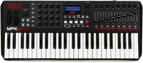 Akai MPK249 is the best MIDI controller for Cubase if you want something that works with every DAW