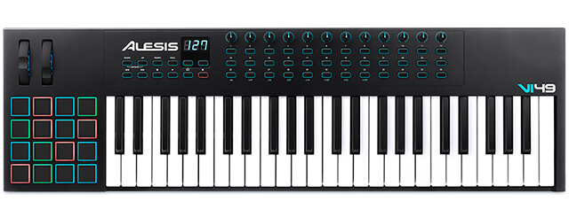 Alesis VI49 is the best budget MIDI keyboard for Pro Tools