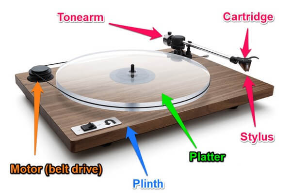 The anatomy of a turntable - the best turntables under $1000 graphic