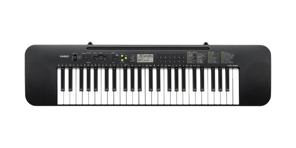 Casio CTK240 is the best compact digital piano for a beginner
