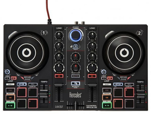 Hercules DJControl Impulse is the best DJ controller under $300 for entry level users