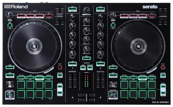 Roland DJ-202 is the best DJ controller under $300 for Serato users