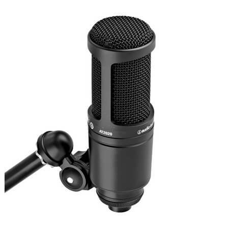 Audio Technica AT2020 is the best condenser microphone under $200 overall