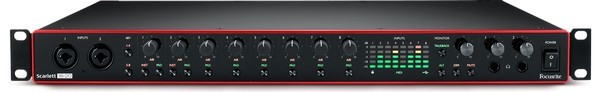 For the best rackmounted audio interface under $500, look no further than the Focusrite Scarlett 18i20