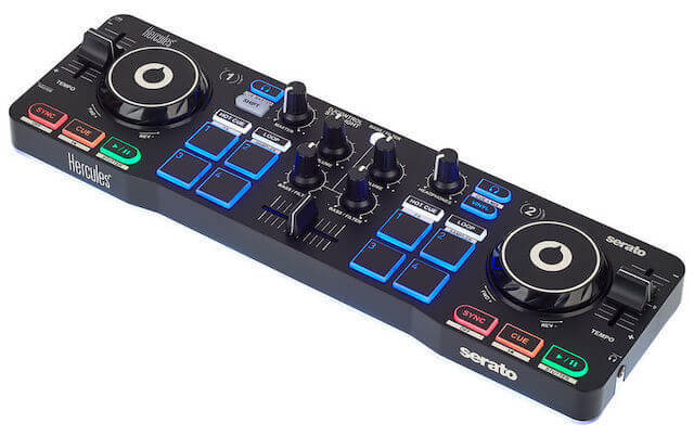 Hercules Starlight is the best DJ controller for Serato users who value portability