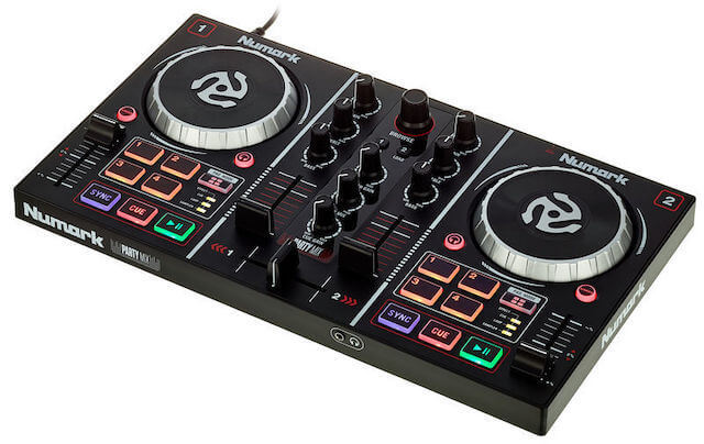 Numark Party Mix is a great DJ controller for beginners