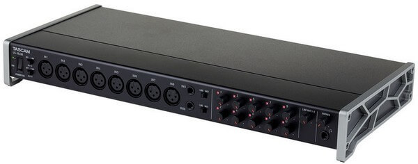 Tascam US-16x08 is the best rackmounted audio interface for home studios