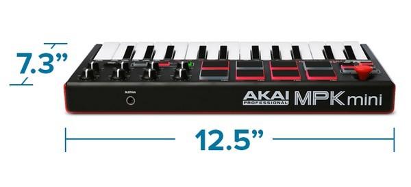 Akai MPK Mini MK2 review - product dimensions