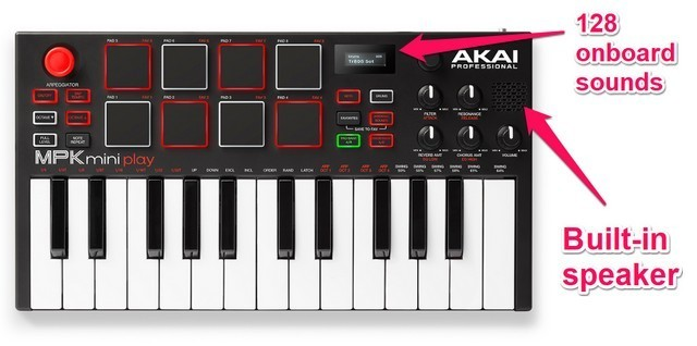 Akai MPK Mini is the best Ableton controller if you want a small, portable keyboard with decent control options