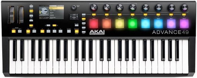 Akai Pro Advance 49 is the best MIDI controller for live performance for serious musicians