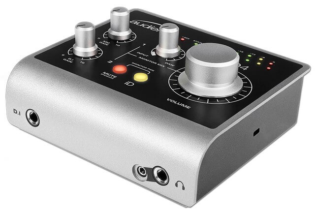 Audient iD4 is the best audio interface for beginners for serious producers