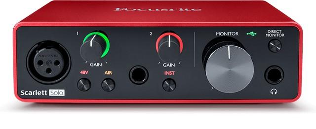 Focusrite Scarlett Solo 3rd Gen is the best audio interface for beginners