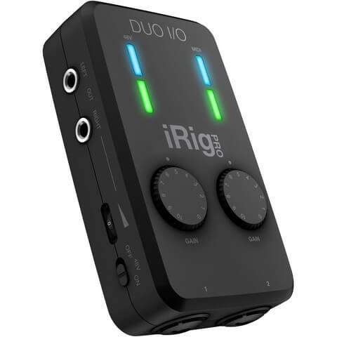 IK Multimedia iRig Pro Duo is the the best audio interface for beginners if you want portability