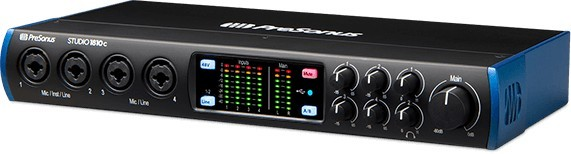 The PreSonus Studio 1810c is the best audio interface for live performance if you want a lot of input and output options