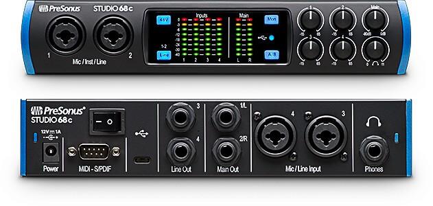 PreSonus Studio 68c 6x6 - great for I/O options