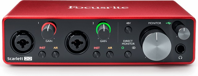 Focusrite Scarlett 2i2 is the best audio interface for FL Studio