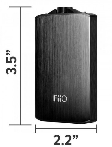 FiiO A3 review - product dimensions