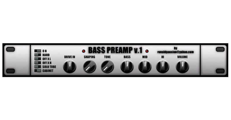 Bass Preamp By Ronald Passion