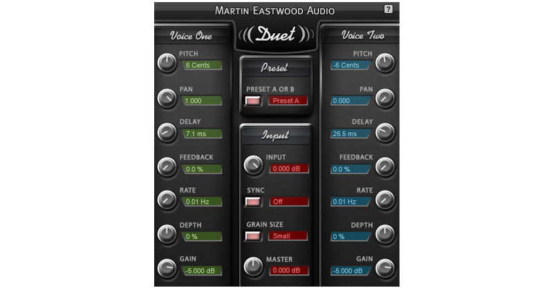 Duet By Martin Eastwood Audio