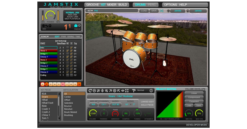 Jamstix 4 Free – Virtual 3D Drummer By RAYZOON