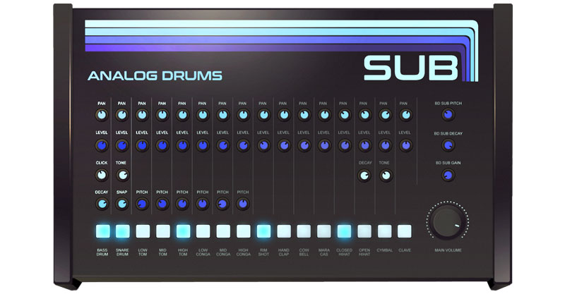 SUB Free Analog Drums By Sampleson