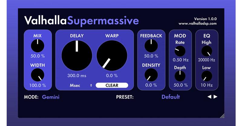 Valhalla Super Massive By Valhalla DSP