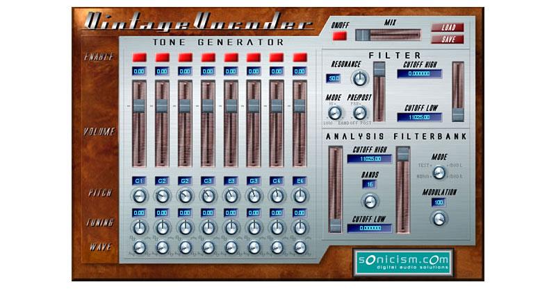 Sonicism Vintage Vocoder By Sonicism Digital Audio Solutions
