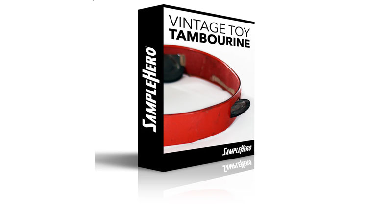 Vintage Toy Tambourine (Red) by SampleHero