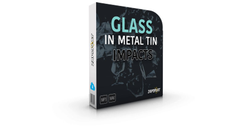 Glass In Metal Tin Impacts by ZapSplat