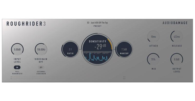 RoughRider 3 Free Compressor Plugin by Audio Damage