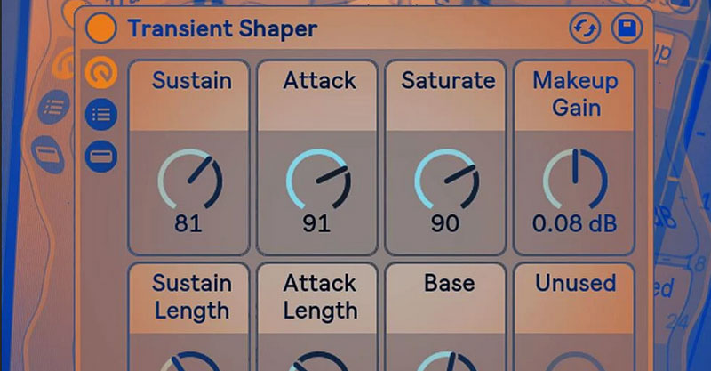 Transient Shaper Ableton Rack by Seed to Stage